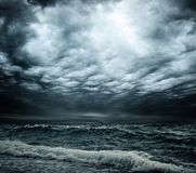 Stormy sky over sea Stock Photo