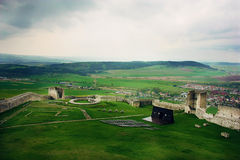 Stormy sky over Spiss Castle, Slovakia Royalty Free Stock Photography