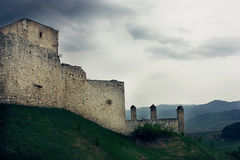 Stormy sky over Spiss Castle, Slovakia Stock Photo