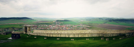 Stormy sky over Spiss Castle, Slovakia Stock Images