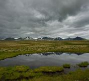 Stormy sky over valley in scandinavia Stock Image