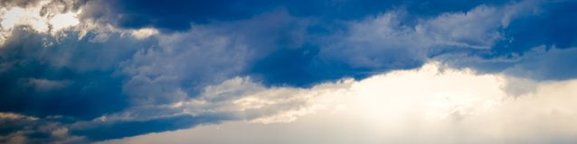 Stormy sky panorama Stock Photography