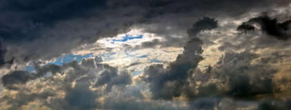 Stormy sky - panoramic shot - XXL size Stock Image