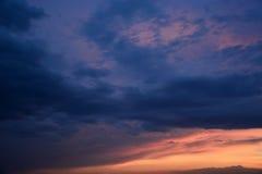 Stormy sky Stock Photo