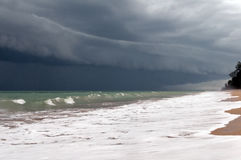 Stormy sky and sea. Royalty Free Stock Images