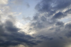 Stormy sky with sunshine Royalty Free Stock Photo