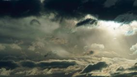 Stormy Sky with Dark Clouds Time Lapse stock footage