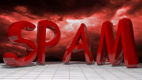 Stormy Spam Royalty Free Stock Photography