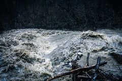 Stormy strong river stock photography