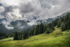 Stormy summer landscape in Tirol Royalty Free Stock Photos