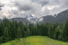 Stormy summer landscape in Tirol Stock Photo