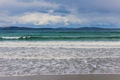 Stormy Summer Skies in Kingston Beach, Hobart. Kingston Beach in Hobart, Tasmania, Australia with stormy summer skies and no people Royalty Free Stock Images