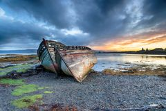 Stormy Sunrise at Salen on the Isle of Mull royalty free stock images