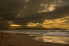Stormy sunset Stock Photography