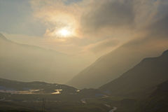 Stormy sunset in the Alps Royalty Free Stock Photography