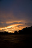 Stormy sunset clouds. A view of stormy clouds at sunset Royalty Free Stock Photo