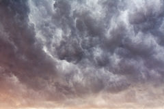 Stormy sunset clouds background Stock Photography