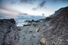 Stormy Sunset on the Cornwall coast Stock Photography