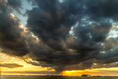 Stormy sunset Royalty Free Stock Photo