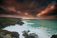 Stormy Sunset over Levant West Royalty Free Stock Image