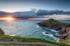 Stormy Sunset over the Rumps Stock Image