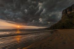 Stormy sunset Stock Image