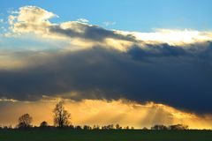 Stormy Sunset Stock Photo