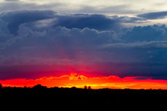 Stormy sunset sky. Sunset before the storm, horizontal Stock Photos