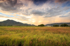 Stormy sunset in the Wasatch Mountains. Stock Photos