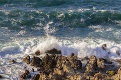Stormy turbulent sea Stock Image