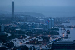 Stormy View over Stockholm Royalty Free Stock Photo