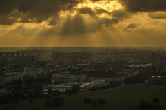 Stormy View over Stockholm Royalty Free Stock Photography