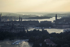 Stormy View over Stockholm Royalty Free Stock Image