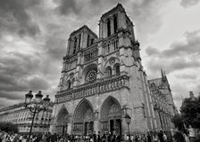 Stormy Views of Notre-Dame Stock Photo