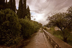 Stormy walkway Royalty Free Stock Photography
