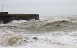 Stormy Waters. Stormy sea in the English Channel outside Dover Harbour, Kent, England, UK Stock Photos