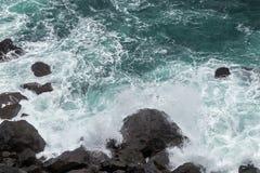 Free Stormy Waves And Rocky Coastline On Jeju Island Stock Image - 77272281