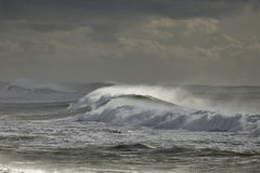 Stormy waves approaching the coast Royalty Free Stock Photography