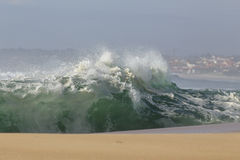 Stormy waves approaching the coast Stock Photography