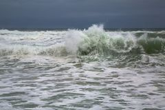 Stormy Waves Breaking Royalty Free Stock Image