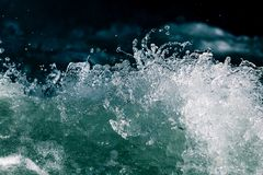 Stormy waves in the ocean as a background Stock Photography