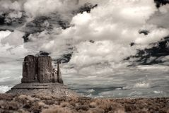 Stormy Weather. Over Monument Valley in Arizona stock photo