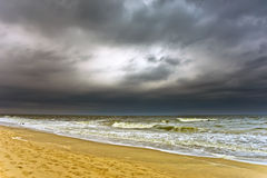 Stormy weather. Atlantic ocean coast, MD, USA royalty free stock photography
