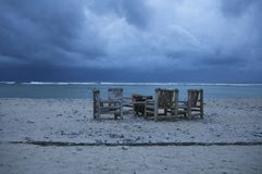Stormy weather. Beach in stormy weather Royalty Free Stock Photography