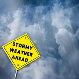 Stormy Weather Ahead Illustration Stock Image
