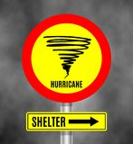 Stormy Weather Ahead Sign Board, Hurricane indication. Graphic banner of hurricane. Warning, shelter. Icon, sign, symbol, indication of the hurricane, vortex vector illustration