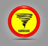 Stormy Weather Ahead Sign Board, Hurricane indication. Graphic banner of hurricane warning. Icon, sign, symbol, indication of the. Hurricane, vortex, tornado Royalty Free Stock Image