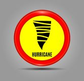 Stormy Weather Ahead Sign Board, Hurricane indication. Graphic banner of hurricane warning. Icon, sign, symbol, indication of the. Hurricane, vortex, tornado stock illustration
