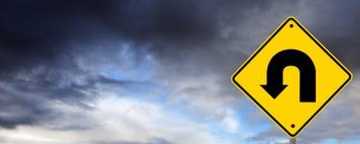 Stormy Weather Ahead - U Turn Royalty Free Stock Photos