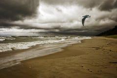 Stormy Weather. Along the coast of Lake Michigan royalty free stock image